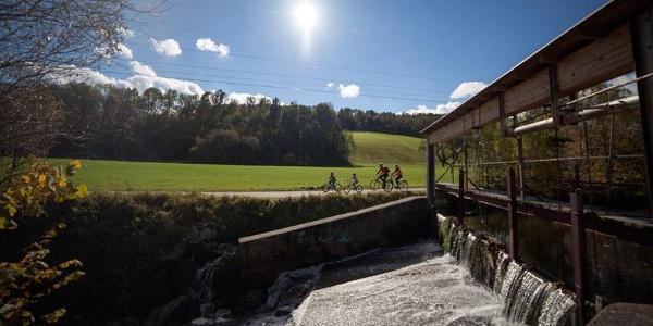 Traumhafte Kulisse am Feistritztal-Radweg