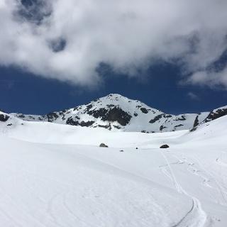 Gipfel mit der Nordabfahrt