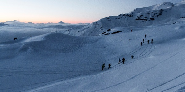 Skitourenabend im Val Thorens
