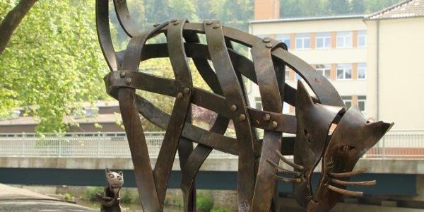 """""""Katze"""" - Skulptur von Thomas Kleevisch"""