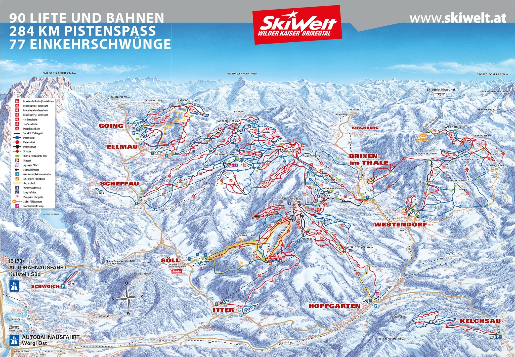 Komfortable 8er Bahn mit 6 ms in der SkiWelt Wilder Kaiser