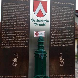 Das Herbersteinbründl in Wolfgrub erzählt die Geschichte Wolfgrubs.