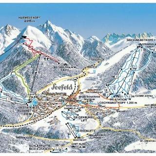 Pistenplan Skiarena Seefeld