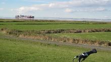 Elberadweg: Abschnitt Wischhafen - Cuxhaven in der Urlaubsregion Altes Land am Elbstrom