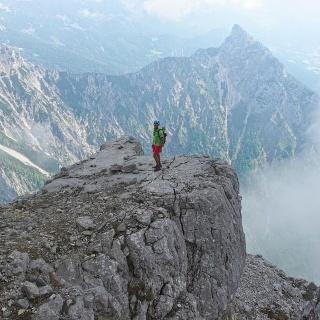 Am Ostgrat des Kl.Hochkastens, leichte 2er Kletterei.