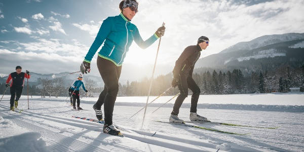 Cross-country skiing in Gesäuse