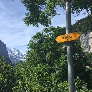 Wanderweg sign