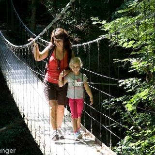 Drahtstegbrücke