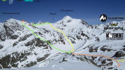 Zustieg Siegerlandhütte, Blick zurück - Routen in Foto (Topo)