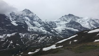Turn the corner with views of the euger, moench and jungfrau