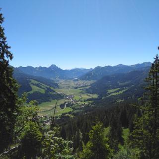 Schmuggler Weg Blick ins Tannheimer Tal