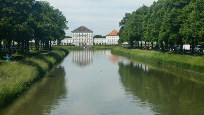 Nymphenburger Kanal und Schloss