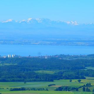 Panoramablick vom Gehrenberg zum Säntis