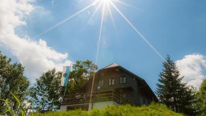 Schutzhaus des ÖTK, Kirchenberg 924 m, bei Hainfeld