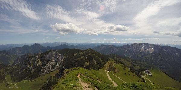 Aussicht von der Rotwand in südöstliche Richtung
