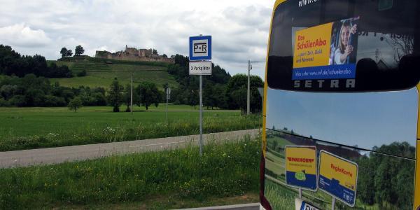 Bushaltestelle Sexau-Mühlebächle mit Hochburg