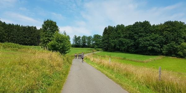 Radfahrer im Ebbegebirge