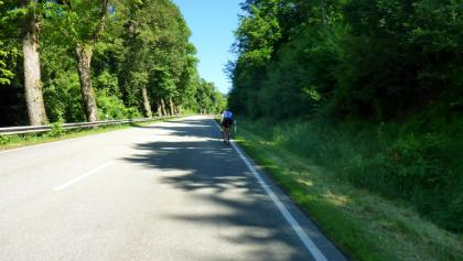 Die ersten Kilometer nach Untergriesbach auf der B388