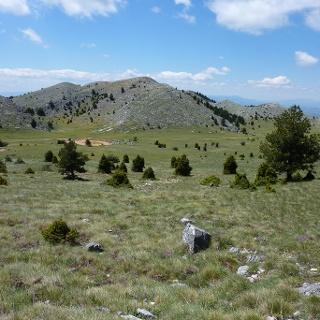 Hochebene, vom Aufstieg zur Megali Tourla gesehen