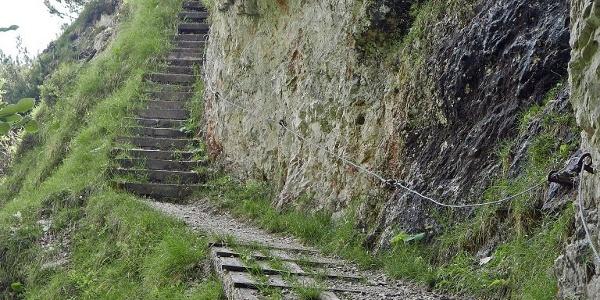 Beim Aufstieg zur Kneifelspitze
