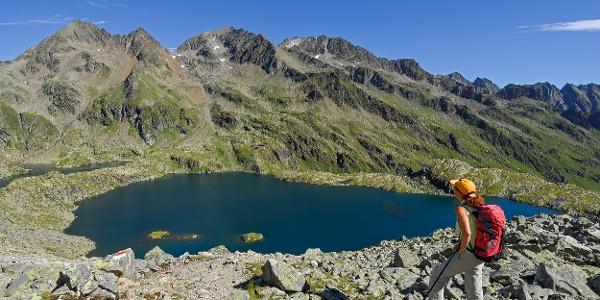Blick auf Wangenitzsee von Oberer Seescharte