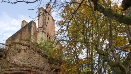 Ruine der Burg Ramstein