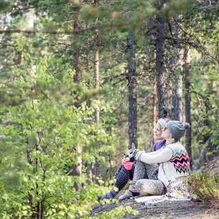 Relaxing in Nuuksio National Park