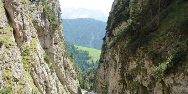 Blick aus der Bärenfalle ins Tierser Tal