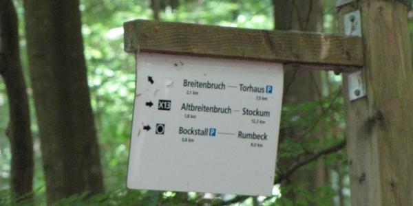 Von Quellgebiet des Baches zur B229 sind es nur 300m.