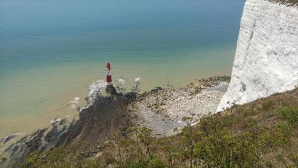 Beachy Head Lighthouse von oben