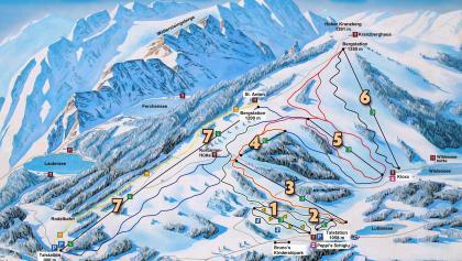 Pistenpanorama Skigebiet Kranzberg