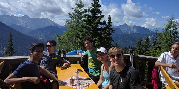 Relaxing at Pleisenhütte