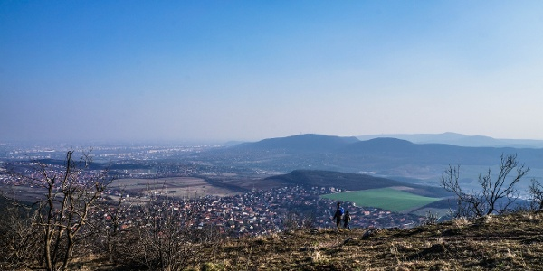The view from Nagy-Kevély over Budapest