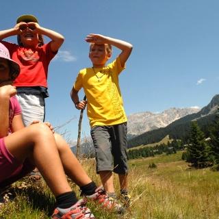 Kids at Passo Lavazè