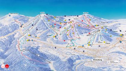 Panoramakarte Postwiesen - Skidorf Neuastenberg