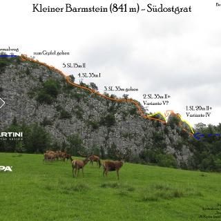 Übersichtsbild Barmstein Südostgrat