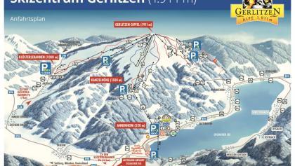Panoramakarte von Gerlitzen
