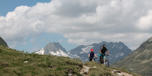 Biker im Val Maighels