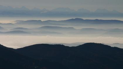 Aussicht vom Schwarzwälder Belchen