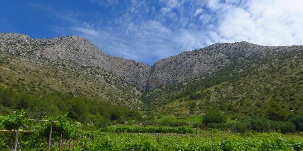Der höchste Berg von Hvar, der Sveti Nicola