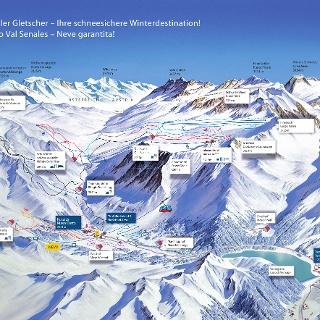 Pistenpanorama Schnalstaler Gletscher