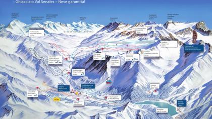 Cartina sciistica Val Senales 2017