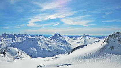 Aussicht über den Mittelallalingletscher