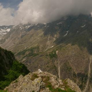 Vallon du Séle links und Gyrtal mit dem Glacier Blanc