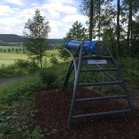 Vom Sphäriskop hat man einen herrlichen Ausblick auf den Ortsteil Alhausen