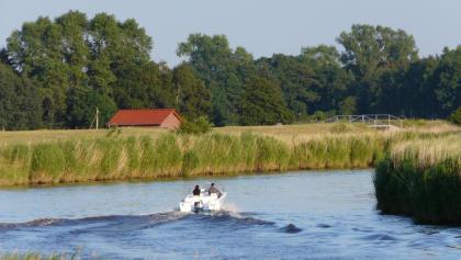 Boot auf der Oste