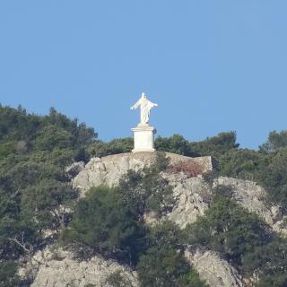 eine nicht erreichbare Christusfigur bi Esporles