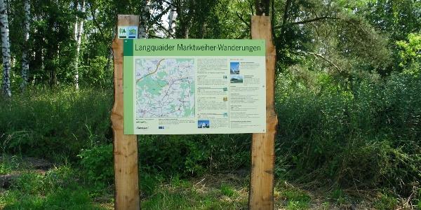 """Marktweiher Wanderweg Langquaid """"Waldlehrpfad"""""""