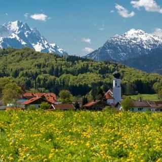Wanderung - Zur Kreut-Alm und zum Frelichtmuseum Glentleiten - Blick ins Blaue Land