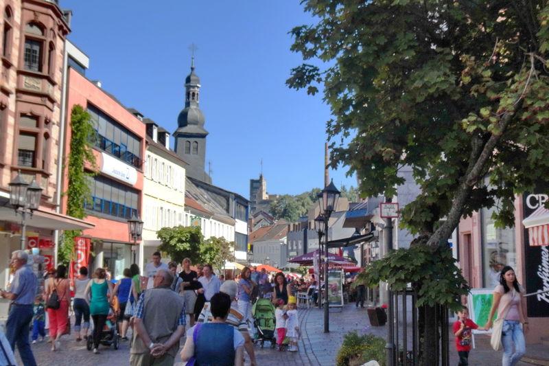 Fußgängerzone in der St. Ingberter Innenstadt